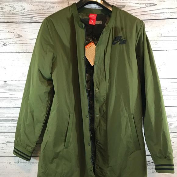 482a12bf4001 Nike Air Men s Varsity Long Jacket Legion Green